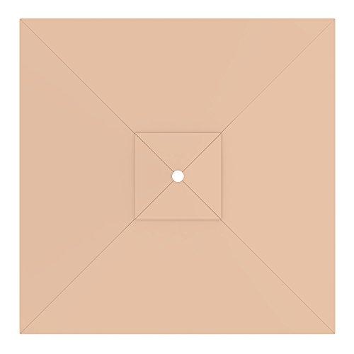 paramondo Telo di Ricambio incl. Air Vent per Ombrellone da Giardino Interpara (3 x 3 m/Quadrato), Crema