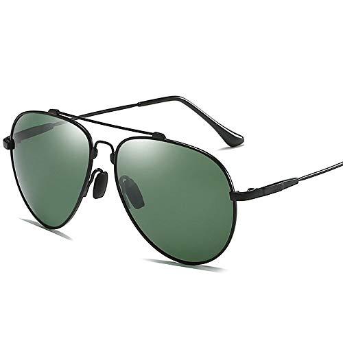 XinMeiMaoYi UV400 Oro Plata Negro Gafas Voladoras Gafas De Sol Polarizadas Espejo De Conducción Gafas for Hombre Conductor Espejo Rana De Conducción (Color : Black)