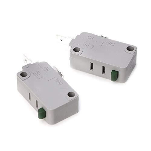 JSJJAUA Micro Interruptor Cambio Micro del Micro de la Puerta del Horno de microondas 2 unids 125V / 250V 16A Switch Normalmente Abierto