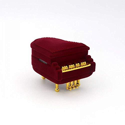 N\C Klavier-Geschenkbox für Halsketten, Ringe, Ohrringe, Schmuck, Verpackung, Samt, für Schmuck, Verlobung, Hochzeit