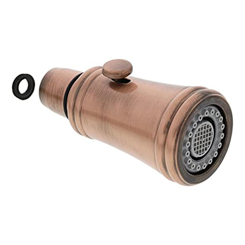 Cabezal de ducha Vicus Single de cobre cepillado AV galvanizado, 123600 para grifo Blanco de alta presión