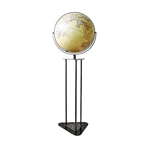 LTCTL Mappamondo 17'Globo del Mondo da 17' con Tripod in Metallo Mappa Dettagliata Globo Illuminato Globo del Mondo Lampada per Bambini Globi geografici (Color : World Globe B)
