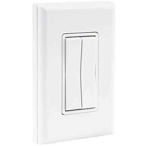 RunLessWire Click for Philips Hue Wireless Dimmer Light Switch, Smart Switch with Battery-Free Installation (Switch, White)