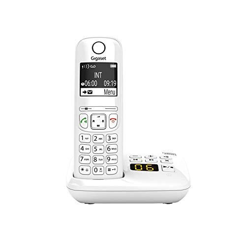 Gigaset AS690A - Schnurlostelefon mit Anrufbeantworter - DECT-Telefon mit Freisprechfunktion, großes Display, große Tasten - Festnetztelefon, weiß