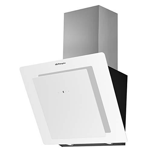 Orbegozo DS 75160 BL afzuigkap, 60 cm, voorkant van gehard glas, zuigvermogen 579 m3/h, LED-verlichting, 3 vermogensniveaus