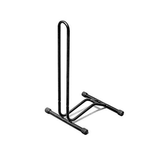 Bike Repair Stand Foldable Bicycle Storage Stand Bike Bicycle Floor Parking Rack Wheel Holder Fit Bikes Indoor Home Garage Workstands (Color : Black, Size : 72x38x33cm)