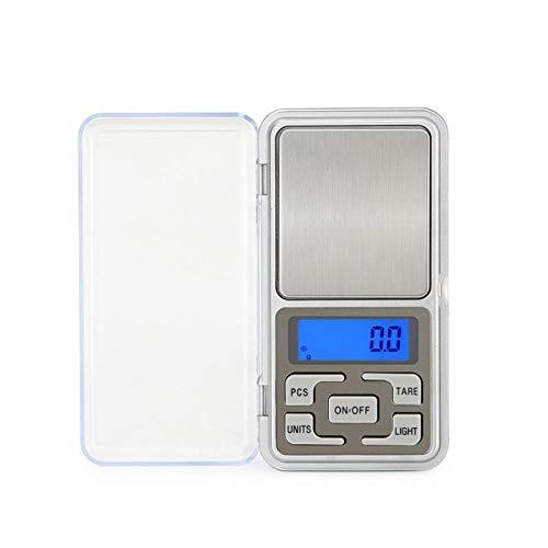 Mini balanza electrónica 100g 500g Precisión Libra Jewelry Báscula de mesa de bolsillo electrónica Báscula de peso portátil Palm Báscula digital 500g 0.1g