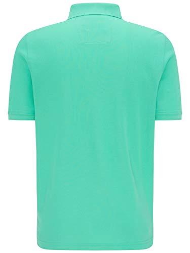 FYNCH-HATTON Basic Poloshirt aus Piqué mit Brusttasche aus Reiner Baumwolle, Fresh Mint, 3XL