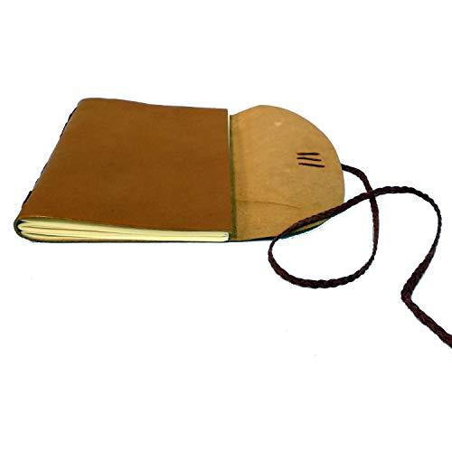 Cuaderno en piel para diario, notas, viajes, recuerdos | Perfecto para escritura,...