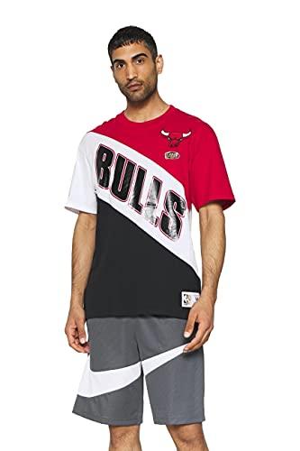 Mitchell & Ness NBA Play by Play - Camiseta de manga corta, C. Bulls Red/Black, XXL
