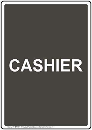 Wendana vertikales Kassenschild, lustiges Wanring Schild, Torschild, Hence Yard Schild, 20,3 x 30,5 cm mit englischem Text, Weiß auf Anthrazit