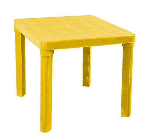 Zeus Party - Mesa de plástico rígida, 50 x 50 cm, para Interiores/Exteriores