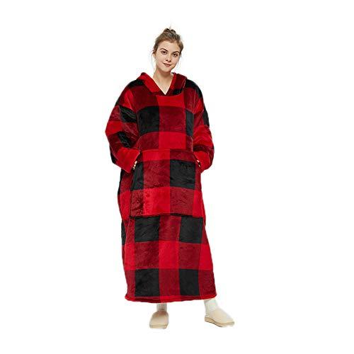 Pullover Felpa con Cappuccio Oversize con Tasca Frontale Blanket Hoodie Morbida Coperta con Maniche Calda e Confortevole per Uomini, Donne,...