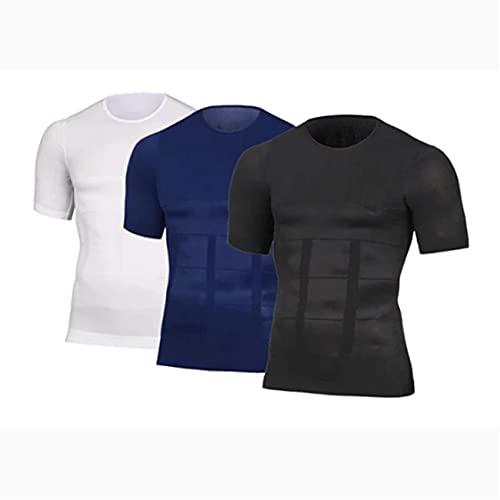 DASFF Men's Shaper Slimming Compression T-Shirt Slimming Tank Top Workout Vest (M,D)