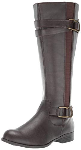 LifeStride Women's Fantastic Tall Shaft Boot Knee High, Dark Brown, 7 M US