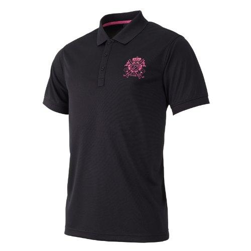 IJP Design, Polo Uomo Golfshirt - Tech Golo, Nero (Schwarz), XS