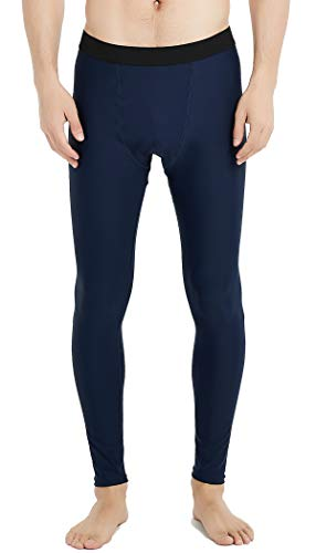 UPF 50+ Men's Surfing Leggings Sun Protection High-Waist Tummy Control Swimming Pants(6006navy-XL)