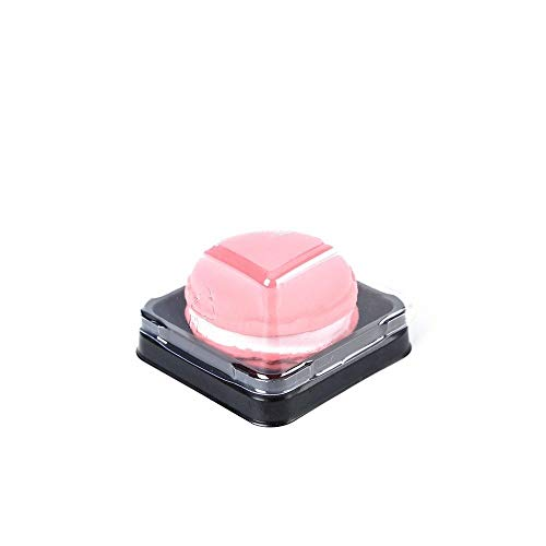 Single Clear Plastic Mooncake Box with Transparent Lids and Sealing Lables, 50 Sets (75G Black)