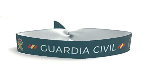 Tarja 73 - Pulsera de Tela Guardia Civil - Pulsera con Dibujo - Pulsera con Frase - Regalo Creativo e Ideal