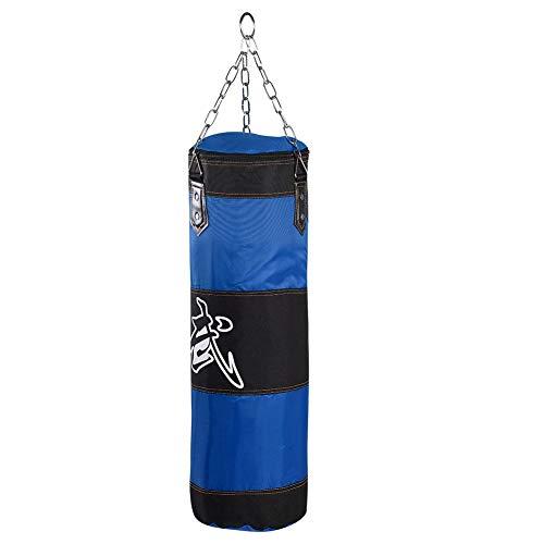 Saco de Boxeo para niños para Entrenamiento de Boxeo, Conjunto con Cadena y Gancho de expansión, Material Oxford de Calidad, Ideal para Kickboxing, Muay Thai, Karate(80cm)