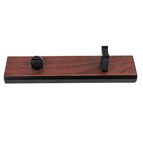 Treasure Gurus Natural Brown Wood Fixed Blade Knife Collection Display Stand Holder Rustic Cabin Home Decor