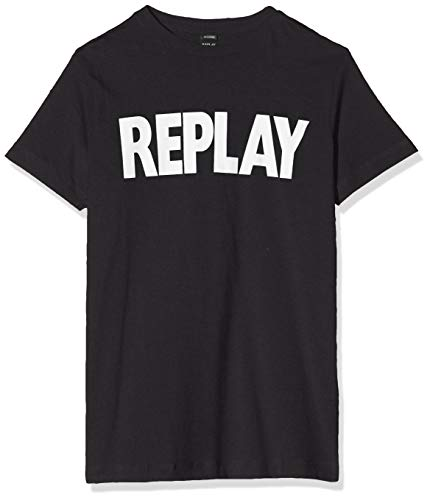 REPLAY Sb7308.010.2660 T-Shirt, Nero (Black 98), 164 (Taglia Produttore: 14A) Bambino