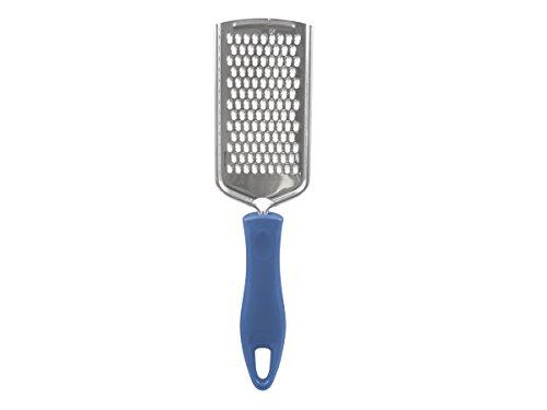 BEPER MD.217 Grattugia Piccola con Manico Soft Touch, Acciaio e Plastica, Argento, 8 x 1.4 x 24 cm