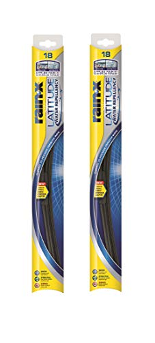Rain-X - 810167 Latitude Water Repellency Wiper Blade, 18' - 2 Pack