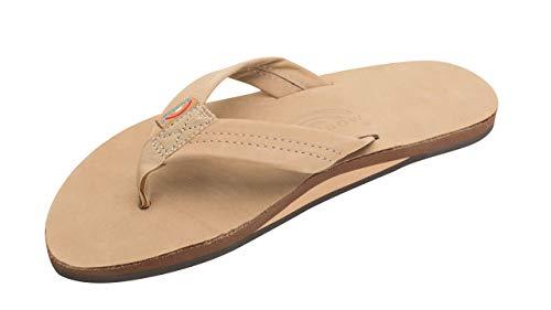 Rainbow Mens Premier Leather Sandal Sierra Brown Size S
