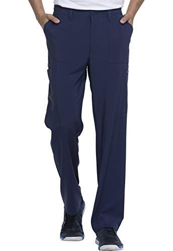 Dickies EDS Essentials Men Scrubs Pant Natural Rise Drawstring DK015, L, Navy