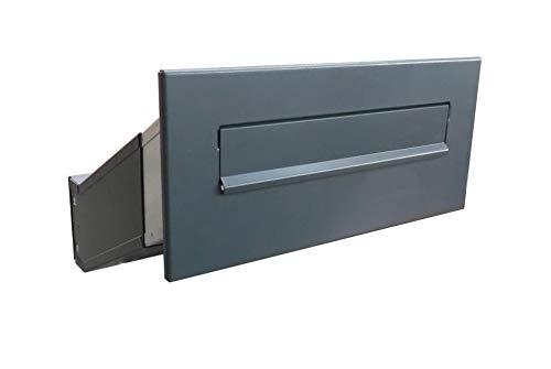 D-042 Anthrazit (RAL 7016) Mauerdurchwurf Briefkasten (Tiefe: 35-50 cm) - LETTERBOX24.de