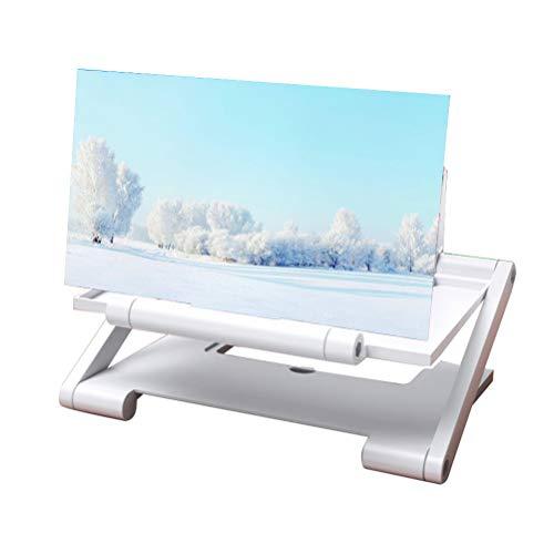 COTTILE Lupa de Pantalla Lupa de teléfono Celular 3D HD Pantalla de proyector de luz Anti-Azul para Ver Videos de películas en Todos los teléfonos Inteligentes