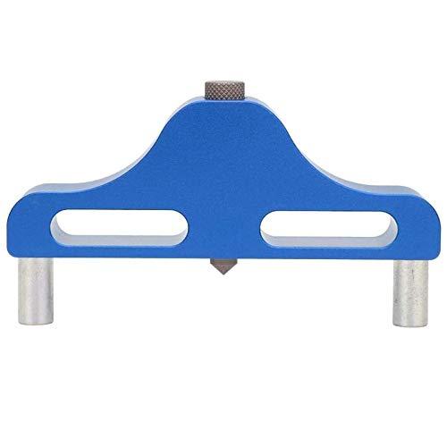 YiGanQiang Finder Centre Aluminio Alloy Herramienta de carpintería fácil de Transportar Herramienta de Marcado Medio fácil de Instalar Herramienta de Marcado de línea Central (Color : Blue)