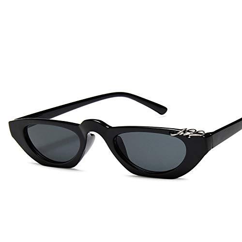 Gafas De Sol De Ojo De Gato Pequeñas Vintage para Mujer, Gafas De Sol De Diseñador De Marca De Lujo, Gafas De Sol Rojas Pequeñas Retro para Mujer, Negro