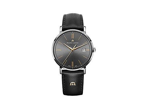 Maurice Lacroix Reloj Analógico para Hombre de Cuarzo con Correa en Cuero EL1087-SS001-812-1