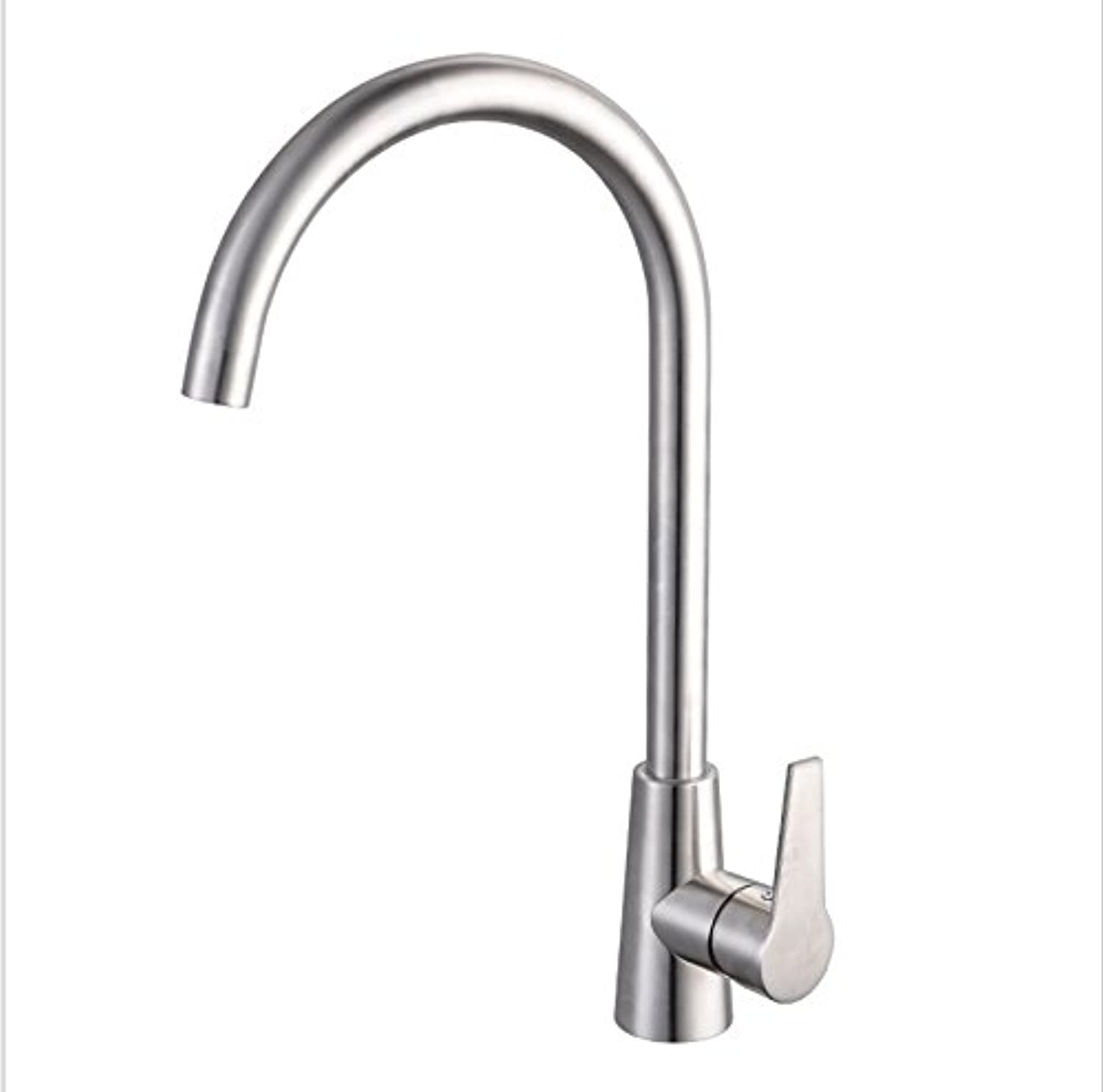 WUTONG 304 stainless steel kitchen faucet sink faucet 360 redating hot and cold faucet