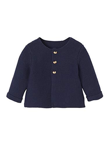 Vertbaudet Strickjacke für Neugeborene, Baumwolle Marine 50