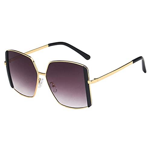 perfeclan Gafas de sol cuadradas retro clásicas Moda vintage Protección UV400 Ligero Conducción Pesca al aire libre Gafas Accesorios Hombres Mujeres Gafas de - Negro