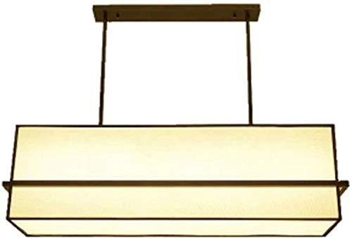 Kroonluchter, Chinese kroonluchter woonkamer eetkamer lamp rechthoekige club kantoor ingenieerde lamp eenvoudige creatieve stoffen lamp, kroonluchter (grootte: 100 cm)