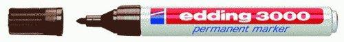 Edding 4–30000183000–Marcador permanente (recargable, 1,5–3mm, color marrón oscuro