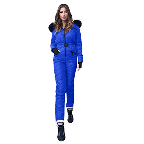 YpingLonk Mujer Engrosamiento del Mono Guardapolvos Elegante Skisuit Cremallera De Esquí Cómodo Al Aire Libre Chándal Deportivo De Snowboard