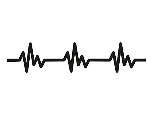 1 x 2 Plott Aufkleber EKG Zeichen Linien Sticker Doctor Herzschlag Puls NEU Solo