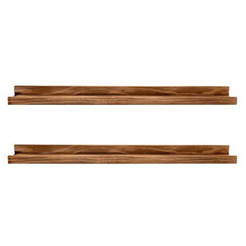 AZSKY Picture Ledge Floating Shelves Set of 2 Modern Style Shelves for Bedroom, Kitchen, or Bath, Includes Wall Mounting Hardware