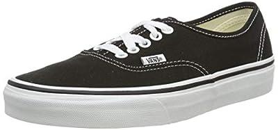 Vans Kid's Shoes Authentic Black/ True White Fashion Sneakers (1 M Little Kid's)