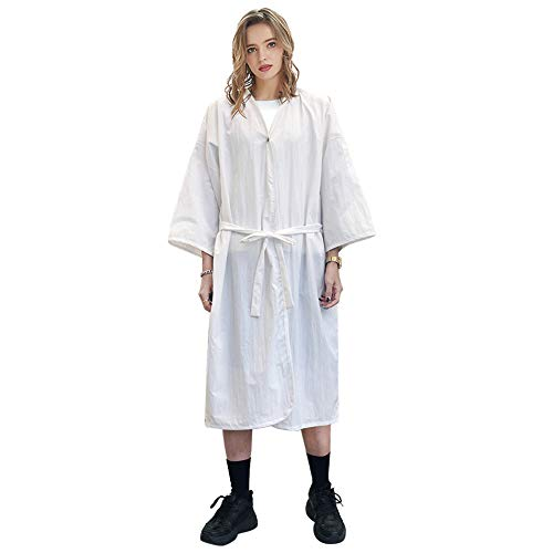 GOGO Spa Robe Salon de beauté Blouse pour femmes Kimono Client Uniforme Polyester Premium Quality Large-White
