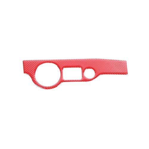 SHOUNAO Cubierta de botón de Interruptor de la luz Delantera Accesorios de Recorte Ajuste para Dodge Challenger 2015-2020 (Color Name : Red)