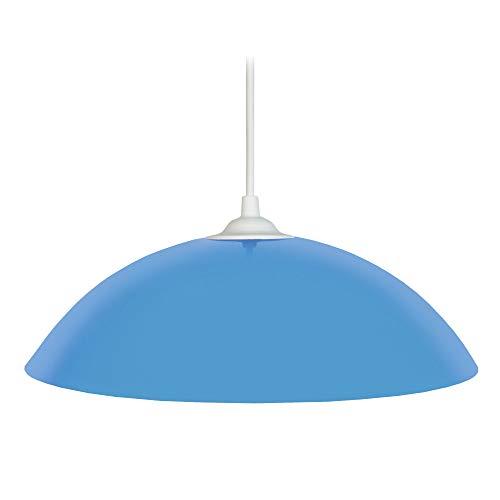 Tosel E1266 Suspension Demi Lune Acier 60 W E27 Bleu