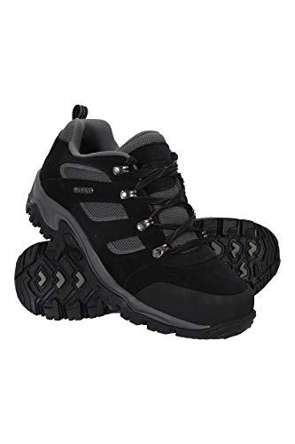 Mountain Warehouse Voyage Wasserfeste Schuhe für Herren - Leicht, schnelltrocknend, Wanderstiefel, Eva-Zwischensohle, Netzstoff, Laufschuhe, Laufsohle Gummi - Für Reisen Schwarz Jet 44