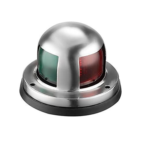 12v Marine LED Boot Navigationslichter wasserdichte Marine Navigationslampe Marine Boot Bug Lichter mit roter und grüner LED für Bootsponton Yacht Skeeter [Edelstahlschale]