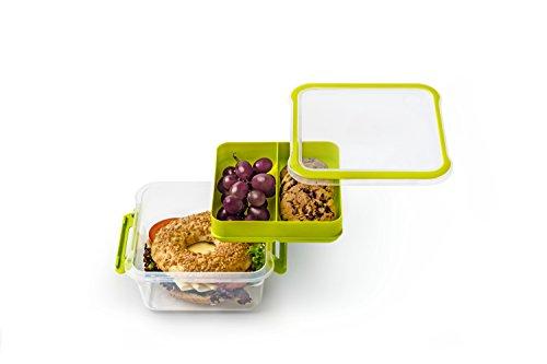 Rotho Memory B3 Lunchbox , Kunststoff (BPA-frei), grün/transparent, 1 Liter (16 x 15 x 7,7 cm)
